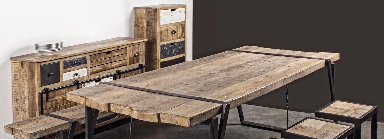 Colecci n de muebles de estilo industrial y vintage for Muebles de diseno industrial